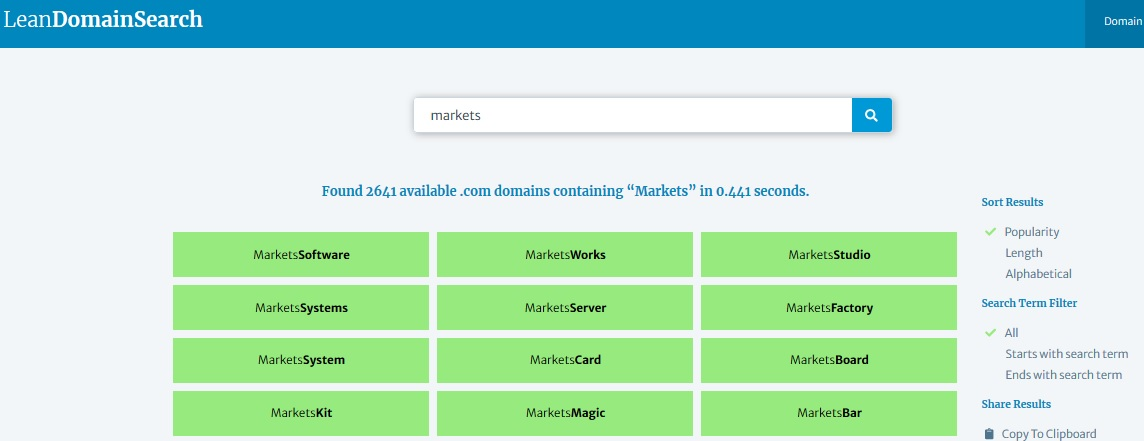 LeanDomainSearch.com example
